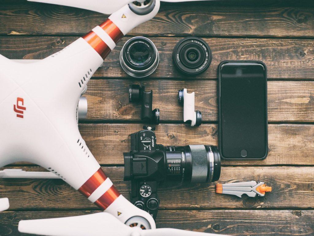 apparecchiatura video droni