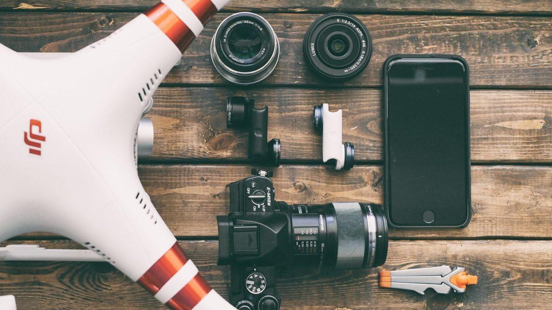 Video camera del drone, riprese e foto