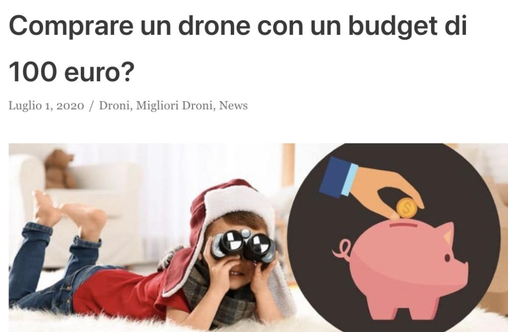 droni economici 100 euro